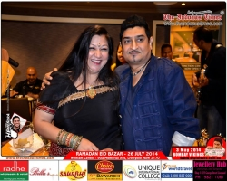 Dr Madhvi Mohindra with Neeraj shreedhar during his show BOMBAY VIKING in Sydney