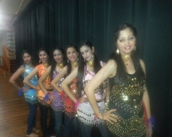 TEC Students before their performance in KARWA CHAUTH Event